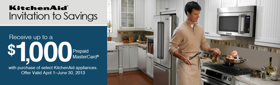 KitchenAid Invitation to Savings- Save up to $1000