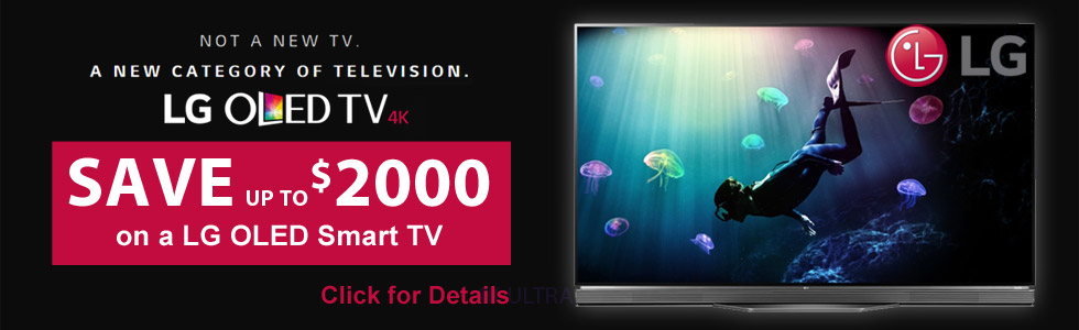 Save up to $2000 on a select LG OLED 4K TV